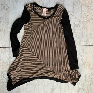 Philosophy Striped Stretchy Long Sleeve Tunic